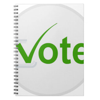 Vote for Green! Notebook