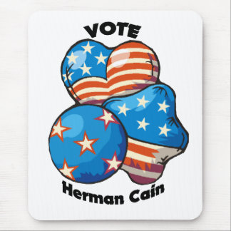 Vote for Herman Cain Mouse Pad