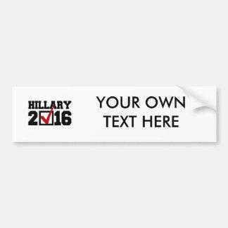 VOTE FOR HILLARY 2016 BUMPER STICKERS