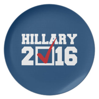 VOTE FOR HILLARY 2016 PLATE
