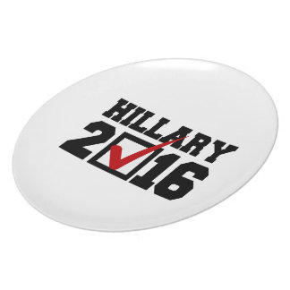 VOTE FOR HILLARY 2016 png Party Plates