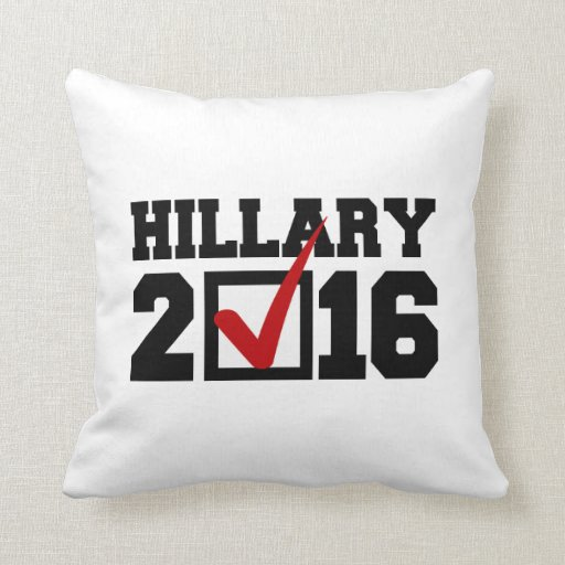 VOTE FOR HILLARY 2016.png Throw Pillows