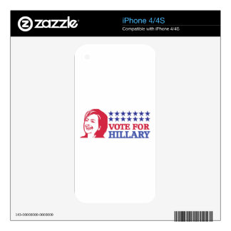 vote for hillary decals for the iPhone 4
