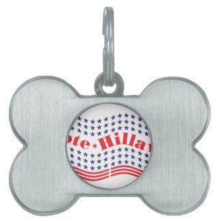 vote for hillary pet ID tag