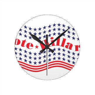 vote for hillary round clock