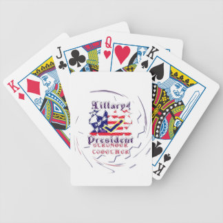 Vote for Hillary USA Stronger Together  My Preside Bicycle Playing Cards