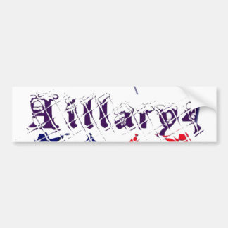 Vote for Hillary USA Stronger Together  My Preside Bumper Sticker
