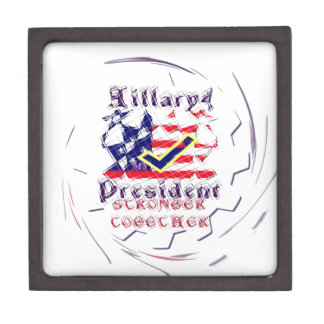 Vote for Hillary USA Stronger Together  My Preside Gift Box