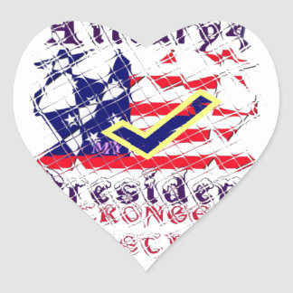 Vote for Hillary USA Stronger Together  My Preside Heart Sticker