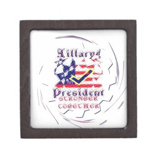 Vote for Hillary USA Stronger Together  My Preside Keepsake Box