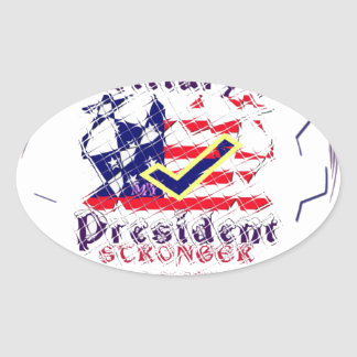 Vote for Hillary USA Stronger Together  My Preside Oval Sticker
