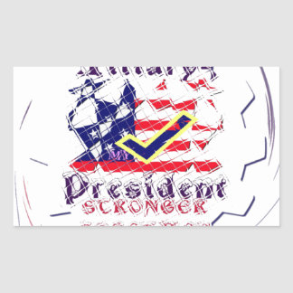 Vote for Hillary USA Stronger Together  My Preside Rectangular Sticker