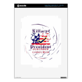 Vote for Hillary USA Stronger Together  My Preside Skin For iPad 3