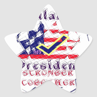 Vote for Hillary USA Stronger Together  My Preside Star Sticker
