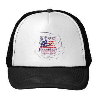 Vote for Hillary USA Stronger Together  My Preside Trucker Hat
