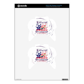 Vote for Hillary USA Stronger Together  My Preside Xbox 360 Controller Decal