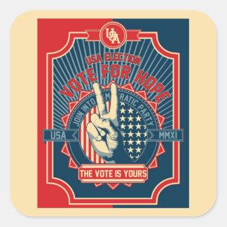 Vote for Hope Square Sticker