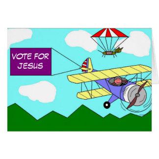 Vote For Jesus Card