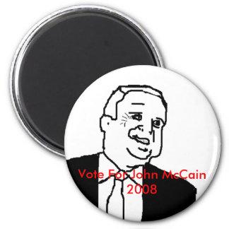 Vote For John McCain 2008 Magnet