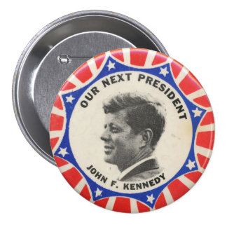 Vote for Kennedy Election Button