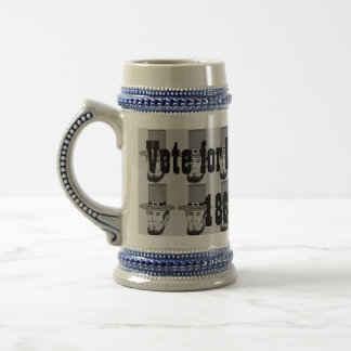 Vote for Lincoln 1861 campaign stein