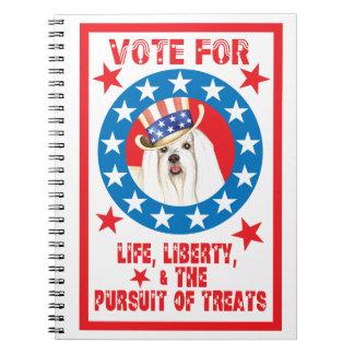 Vote for Maltese Notebook