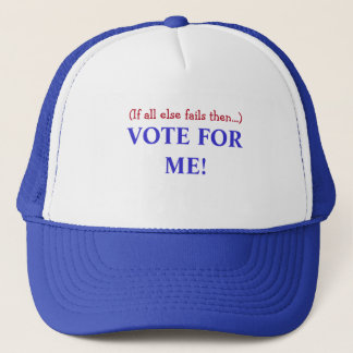 """""""VOTE FOR ME!"""" BLUE TRUCKERS HAT I'M THE BOSS FUN"""