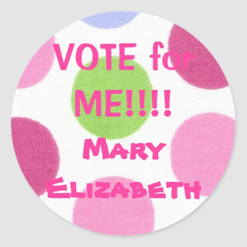 VOTE for ME Election Sticker