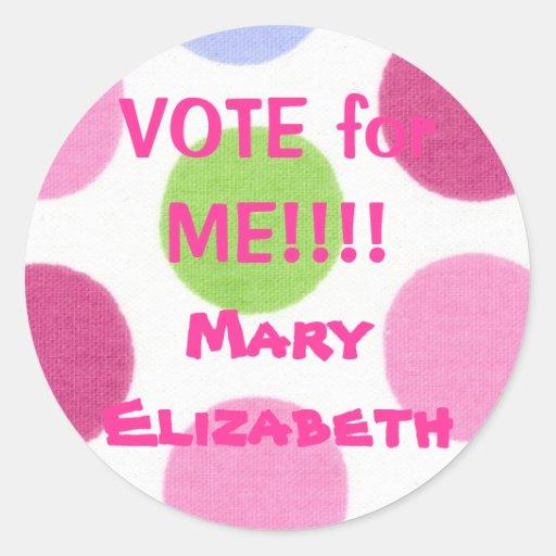 VOTE for ME Election Sticker