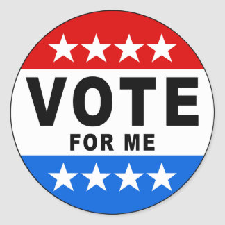 Vote For Me Sticker