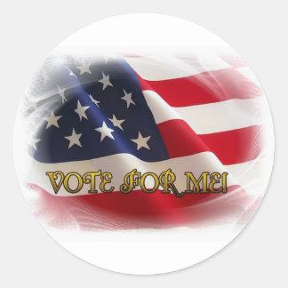Vote for me classic round sticker
