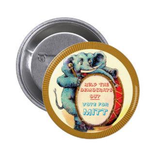 Vote for MITT Pinback Button