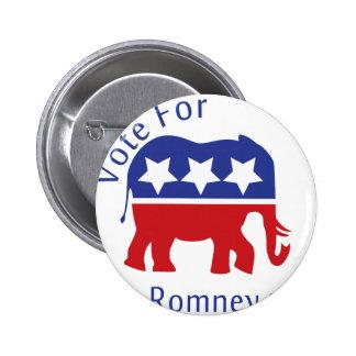 Vote for Mitt Romney 2012 Pinback Button