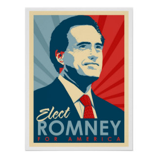 Vote For Mitt Romney - He s Not an Obama Commie Posters
