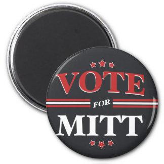 Vote For Mitt Romney Round (Black) 2 Inch Round Magnet
