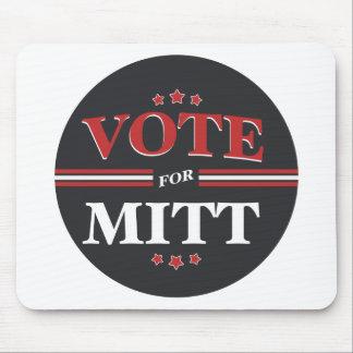 Vote For Mitt Romney Round (Black) Mousepads