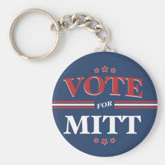 Vote For Mitt Romney Round (Blue) Key Chains