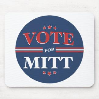Vote For Mitt Romney Round (Blue) Mousepads