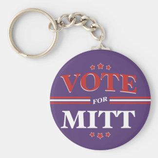 Vote For Mitt Romney Round (Purple) Basic Round Button Keychain