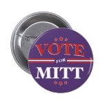 Vote For Mitt Romney Round (Purple) Buttons