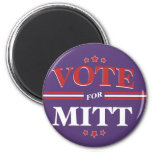 Vote For Mitt Romney Round (Purple) Fridge Magnet