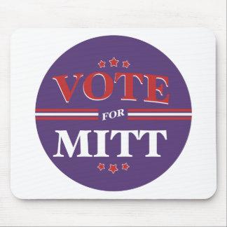 Vote For Mitt Romney Round (Purple) Mousepad