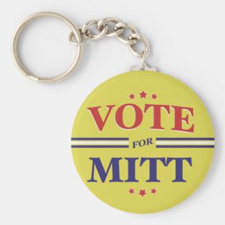 Vote For Mitt Romney Round (Yellow) Keychain