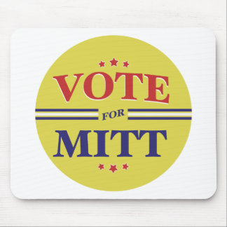 Vote For Mitt Romney Round (Yellow) Mouse Pad