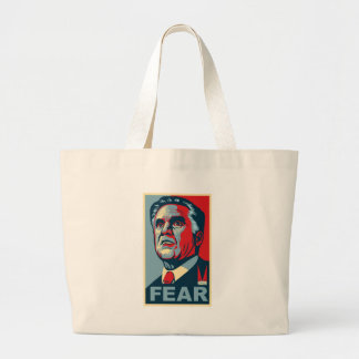 Vote for Mitt Romney - Vote for FEAR Large Tote Bag