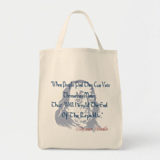 Vote For Money Bag Grocery Tote Bag