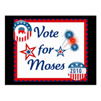 Vote for Moses Postcard