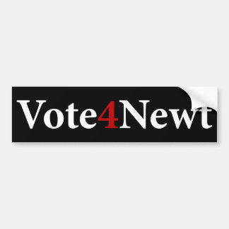 Vote for Newt Bumper Sticker