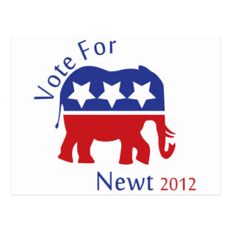 Vote for Newt Gingrich 2012 Postcard