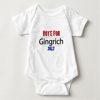 Vote for Newt Gingrich in 2012 Baby Bodysuit